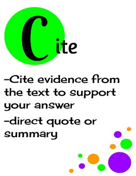ACE writing strategy poster