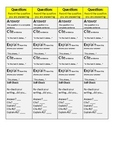 ACE writing structure strips