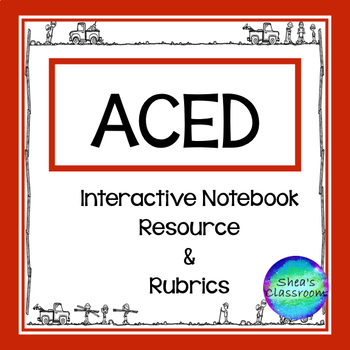 ACED Constructed Response Interactive Notebook Resource