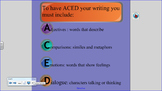 ACED Writing  Interactive Smart board Lessons