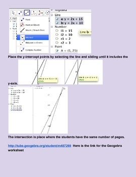 A.CED.1 Solving equations Inquiry applet
