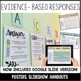 Answer Cite Explain Summarize-Posters, Instructional Slide