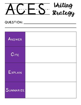 ACES Writing Strategy Graphic Organizer & PowerPoint