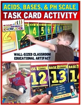 ACIDS, BASES, & PH TASK CARD ACTIVITY