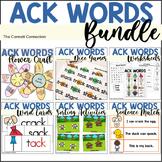 ACK Word Family Activity Bundle