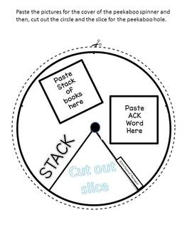 "ACK Word Family ""Cut and Paste"" (Rhyming Spinner Wheel)"