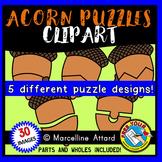 ACORN PUZZLES CLIPART TEMPLATES (AUTUMN OR FALL CLIP ART)