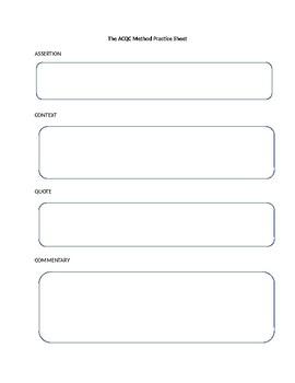 ACQC Method Graphic Organizer