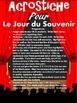ACROSTICHE POUR LE JOUR DU SOUVENIR - French Remembrance Day Recital
