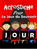 ACROSTICHE POUR LE JOUR DU SOUVENIR - French Remembrance Day Recital