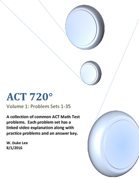 ACT 720 - A Collection of Common ACT Math Test Questions -