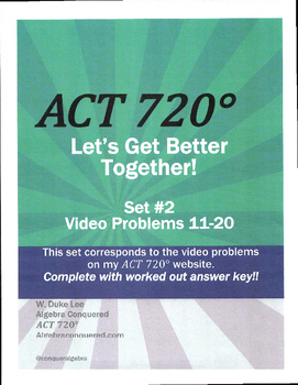 ACT Math Prep - Video Problems - Practice Sets 11- by ACT 720