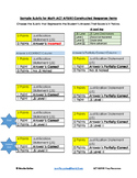 ACT ASPIRE Math Rubric for Constructed Response Items