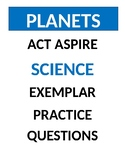 ** ACT ASPIRE ** - SCIENCE PRACTICE QUESTIONS - Planets -