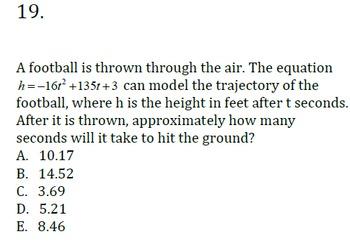 ACT Algebra 2 Math Task Cards