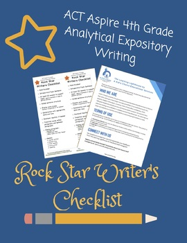 ACT Aspire 4th Grade Analytical Expository Rock Star Writer's Checklist