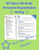 ACT Aspire 5th Grade Persuasive Argumentative Rock Star Wr