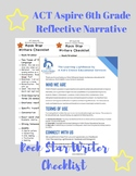 ACT Aspire 6th Grade Reflective Narrative Rock Star Writer's Checklist