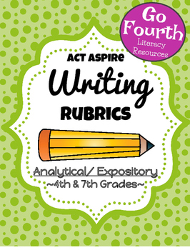 ACT Aspire Analytical Expository Resources (Rubric and Student Checklists)
