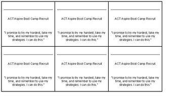 ACT Aspire Bootcamp