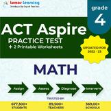 Online Practice test, Printable Worksheets, Grade 4 Math- ACT Aspire Test Prep
