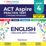ACT Aspire Practice Test, Worksheets & Remedial Resources -Grade 4 ELA Test Prep