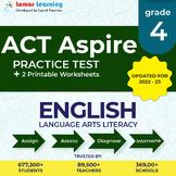 Online ACT Aspire Practice, Digital Workbooks Grade 4 ELA - Distance education
