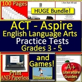 ACT Aspire Reading Bundle Grades 3 - 5 Practice Tests and Games!