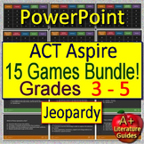 ACT Aspire Test Prep for English Language Arts - 15 ELA Games Grades 3 - 5