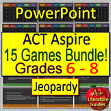 ACT Aspire Test Prep for English Language Arts - 15 ELA Games! Grades 6 - 8