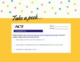 ACT Basics Worksheet