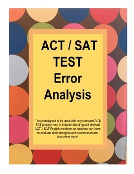 ACT ENGLISH ERROR ANALYSIS
