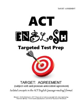 ACT English Agreement Practice (Subject-Verb and Pronoun-Antecedent)