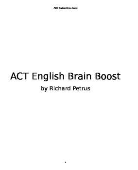 ACT English Brain Boost