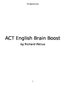 ACT English Brain Boost