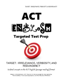 ACT English Practice - Irrelevance, Verbosity, Redundancy