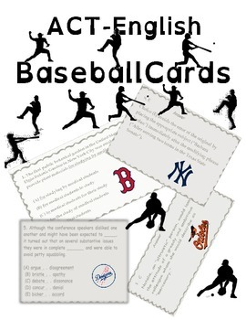 ACT English Prep Baseball Cards