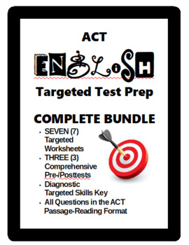 ACT English Prep Bundle Targeted and Comprehensive Practice
