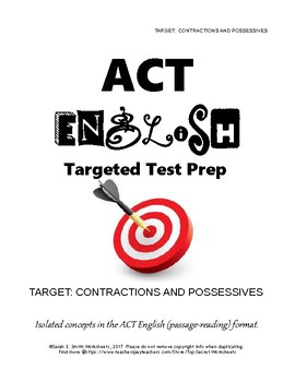 ACT English Prep Contractions and Possessives
