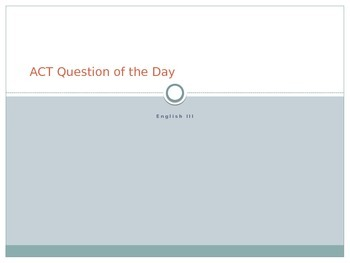 ACT English Test Practice Questions - Over 100 Prompts with Explanations!