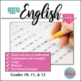 ACT English Test Prep / Grammar, Usage, and Rhetorical Rules Review Sheet