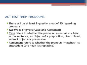 ACT English Test Tips