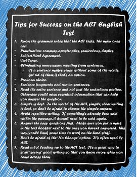 ACT English Tip Sheet
