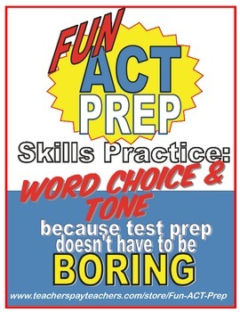 Fun ACT English Prep: Word Choice and Tone Skill-by-Skill Practice