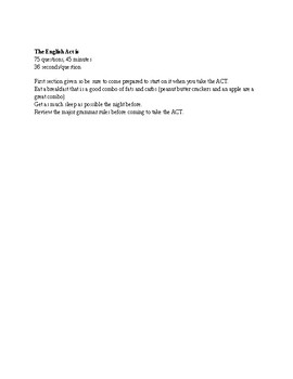 ACT English basic study guide