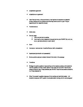 ACT Exam English Notes