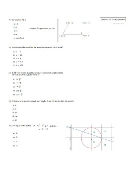 ACT Geometry Practice Questions