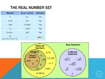 ACT Lesson 1: Comparing Real Numbers