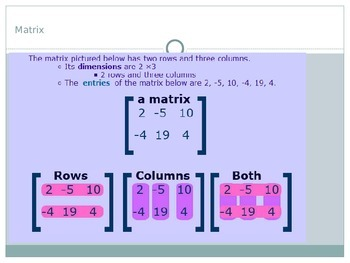 ACT Lesson 6: Matrices