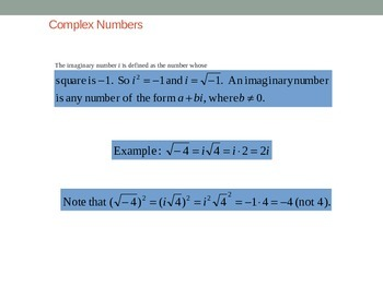 ACT Lesson 8: Complex Numbers